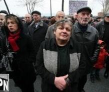 2012 Kakheti storm victims protesting 2013-01-29