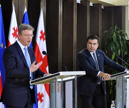 mikheil Saakashvili - stefan fule 2013-02-12