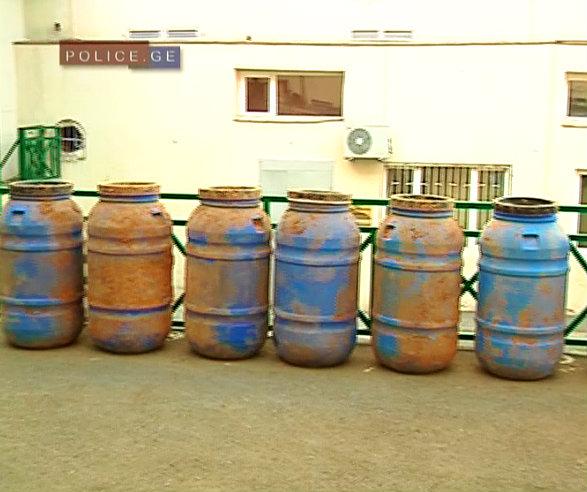 weapons cache - barrels