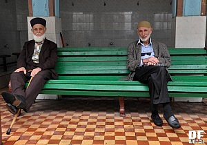 Muslims after Friday Prayer in Batumi (DFWatch Photo)