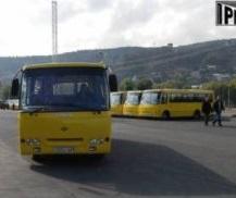 yellow buses batumi