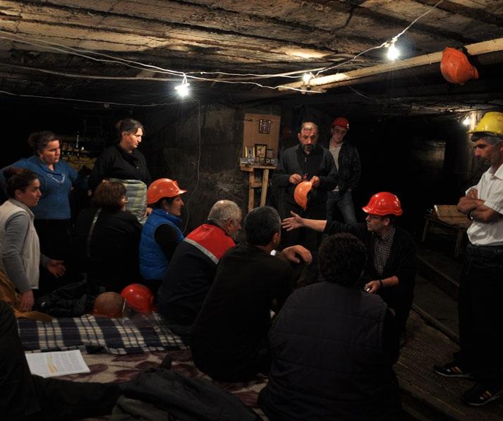Chiatura miners strike November 2012