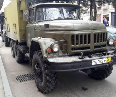military truck with Russian number plate_from facebook