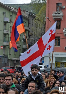 Rally was held at the Turkish embassy in Tbilisi (DFWatch)