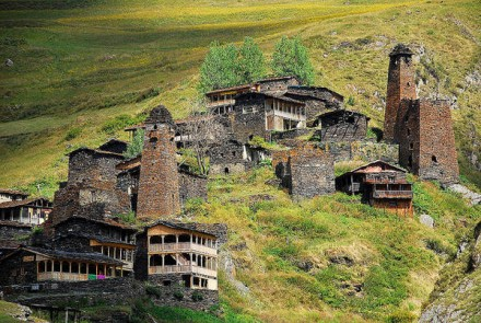 A village in Tusheti (Facebook)