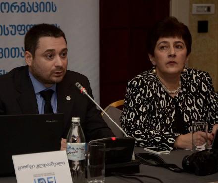 Giorgi_Kldiashvili__IDFI_and_Keti_Khustishvili_Director_of_OSGF_DFWatch_photo