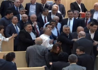 Before declaring their boycott,Earlier, during the plenary session several MPs from both sides participated in the verbal squabble UNM  squabble preceded
