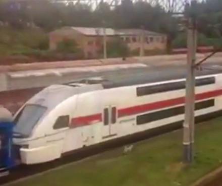 Stadler_KISS_train_in_Tbilisi