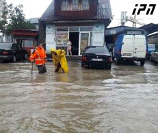 Strong rain and flooding in Batumi