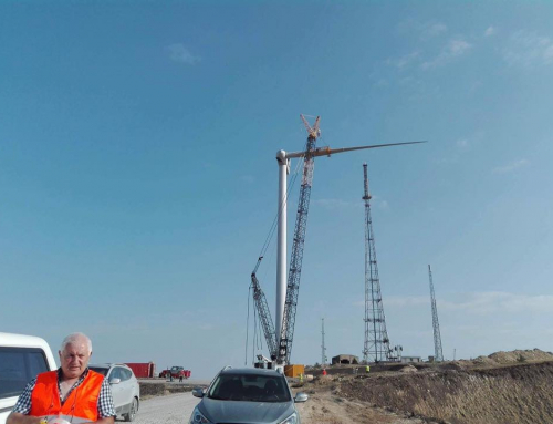 Construction work ends on Georgia's first wind farm