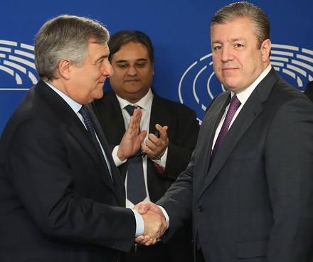 Georgian PM signs visa waiver document with EU