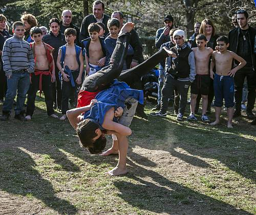 Chidaoba, Georgian traditional wrestling, listed by UNESCO as intangible cultural heritage