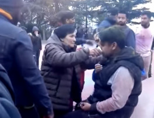 Georgian and Indian youth clash in Mtatsminda Park