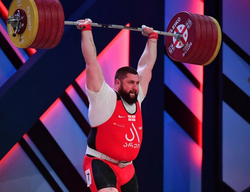 Georgian weightlifter breaks three world records