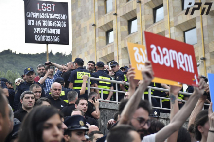Nine detained in Tbilisi as conservatives and LGBT rights