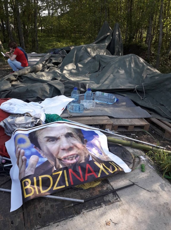 Anti-government protesters's tent camp attacked at GD leader Ivanishvili's private resort