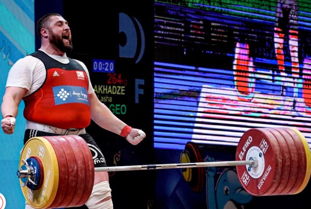 Georgian weightlifter Lasha Talakhadze sets three world records in one day
