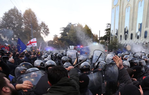 37 detained after police disperses opposition rally in Tbilisi