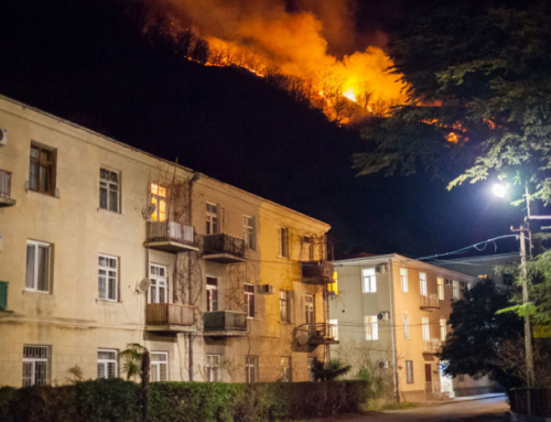 Wildfires now threatening Gagra, the former Soviet holiday resort north in Abkhazia