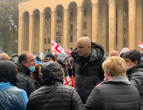 Leader of Georgia's main opposition party facing imprisonment on charges from 2019 protest rally